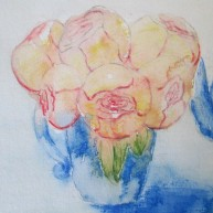 I painted a few years ago. Beautiful roses...I love them.