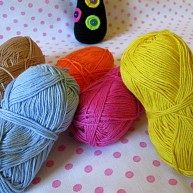 Beautiful colorful cotton yarns